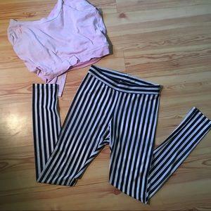Striped B&W semi-sheer leggings (8)
